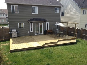 20 x 40 deck built to the customers design and idea.